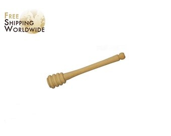 Wooden Honey Dipper / Spoon - Honey Stick from Beech wood