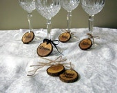 PERSONALIZED WINE CHARMS Fall Wedding Glass Charms Rustic Place Cards Rehearsal Dinner Favors Bridal Party Wine Charms Custom Wine Labels
