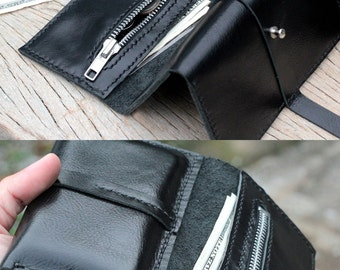 Multi function black iphone wallet with card slots