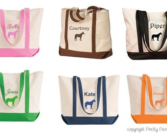 Horse Tote Bag - Equestrian Tote Bag - Personalized
