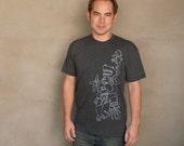 Underwater Tea Party - Unique silk screened men's graphic tee shirt
