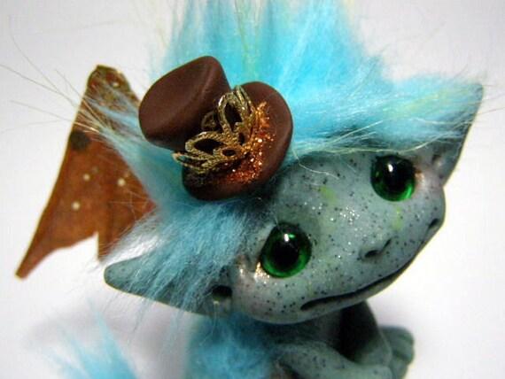 "OOAK Steampunk Fairy Dragon Trollfling Troll ""Octavia"" by Amber Matthies"