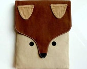 iPad Case/Sleeve - The Fantastic Fox (Brown Beige) - littleoddforest