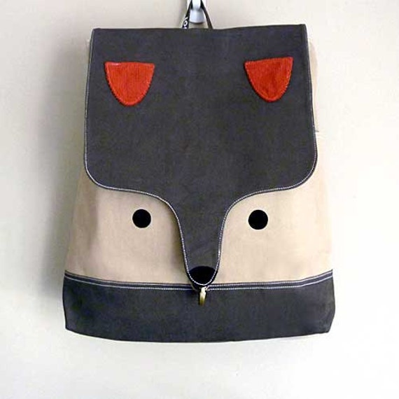 Fox Backpack, The Fantastic Fox UNISEX BackPack (Olive Fawn Color) *4 WEEKS TURNAROUND
