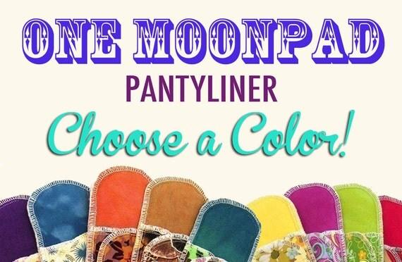 Organic Pantyliner Moonpads Cotton Cloth Pads - Choose a Color