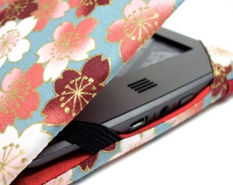 Kindle Touch cover - made to order - Spring Sakura - case fits Touch or Paperwhite - cherry blossom print eReader cover