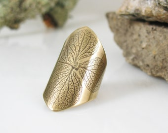 Hydrangea Ring, Handmade Brass Ring