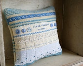 Custom Personalized New Baby Christening Keepsake Art Quilt Pillow Large