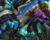 Hand-Woven Saori scarf - choose your colours - Made to order