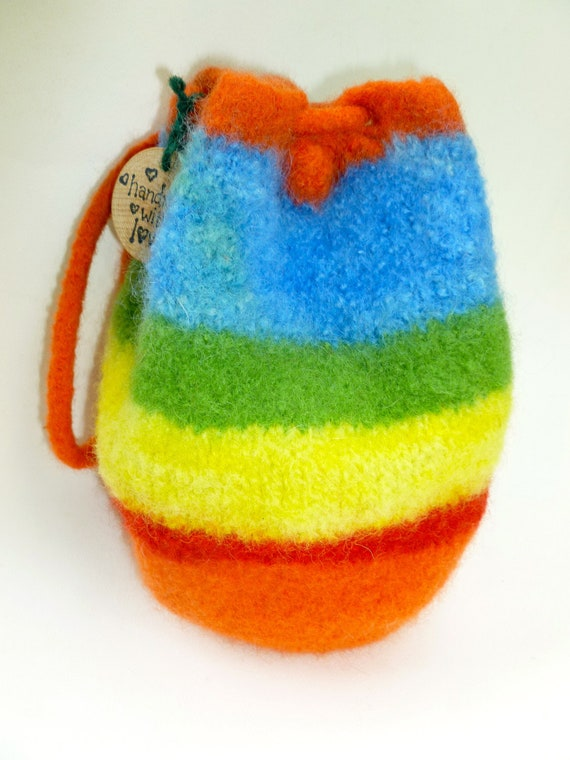 10 Pin Bowling set with felted wool bag