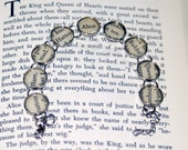 Alice in Wonderland Bracelet - Literary Jewelry, Lewis Carroll, Bookworm Gift