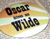 OSCAR drives me WILDE - Bibliophile Pin