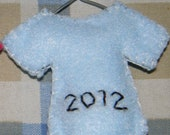 Light Blue Boy - Felt Baby's First Christmas Onesie Ornament