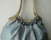 Dot in Gray - Granny Bag