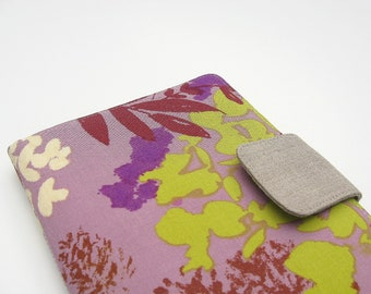 iPad Mini Cover Kindle Fire Cover Nook Simple Touch Cover Kobo Cover Case Hydrangeas Flowered Green and Purple eReader