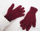 Wool Gloves - Men's Medium, Women's Large - Mulberry Fullfingered Gloves