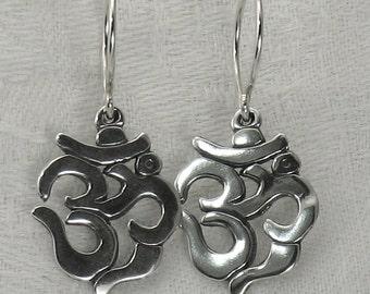 Aum earrings, Sterling Silver, all handmade.