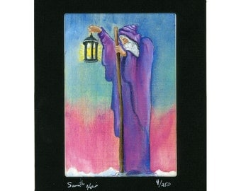 Tarot Card Hermit Print Signed and Numbered Print