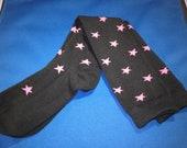 Knee high pink stars socks