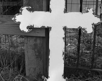 Vintage Wedding Cross. Gothic Cross. Wedding Decor. Wedding Reception Decor. Shabby Chic Wedding. Wall Decor. Wall Art. Distressed Decor.