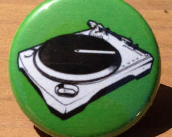 Record Player - Button, Magnet, or Bottle Opener