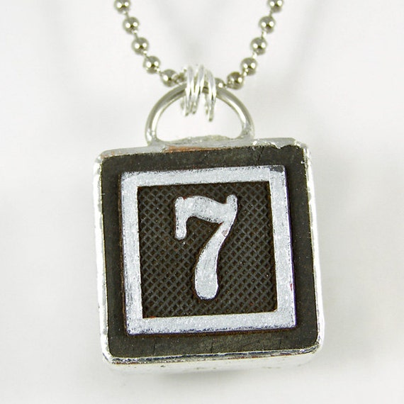 Number 7 Pendant Necklace