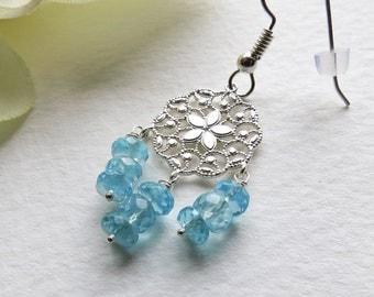 Jewelry, Chandelier Earrings, Blues Apatite, Sterling Silver, Statteam