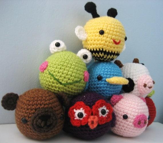 Amigurumi Toys For Babies : Amigurumi Crochet Animal Toys for Baby Pattern Digital ...