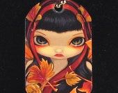 Little Autumn Leaves and Shinjuku Angel Dogtag Necklace from Jasmine Becket-Griffith Art Japanese fairy