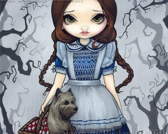 Dorothy and Toto wizard of oz fairy art print by Jasmine Becket-Griffith 8x10