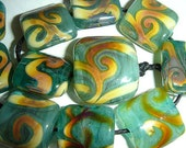 Connie Beads... Forest Floor... Focal set...11 beads