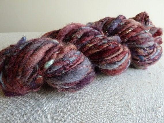 Handspun yarn, 'granny's sofa', bulky yarn