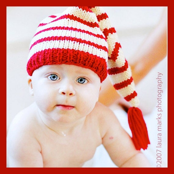 Knit Stocking Cap Pattern : Knitting Pattern Tutorial: Baby Hat / Stocking Cap / Pixie Hat
