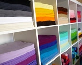 """40 x 12"""" squares of Premium Wool Blend Felt you choose from 45 colours of felt"""