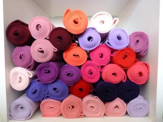 Premium Wool Blend Felt MINI ROLLS