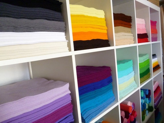 "20 x 12"" squares of Premium Wool Blend Felt you choose from 45 colours of felt"