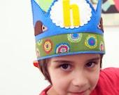 SALE Felt Birthday Crown - woodland hedgehog birthday HAT