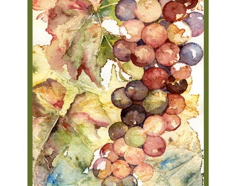 Watercolor Heavenly Grapes Note Cards, Wine Grape Prints, Grape Art, Grape Stationery, Gift Box Set, Wine Lover, Stocking Stuffers