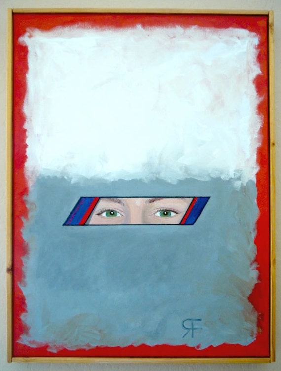 Window Original Surreal Painting Acrylic Abstract