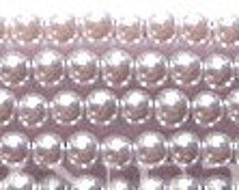 3mm Elegant Pale Lilac Glass Pearls 140 pcs