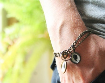 charm bracelet . custom silhouette . one charm . one profile