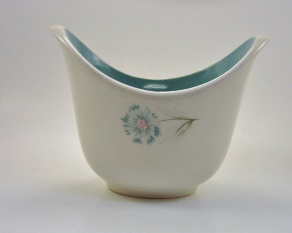 Vintage Ever Yours Boutonniere Open Sugar Bowl - by Taylor Smith and Taylor - Blue