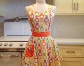 Sweetheart Apron Retro Pears MAGGIE