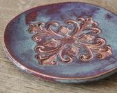 Handmade Stoneware Moroccan Inspired Tapas Dish in Maroon