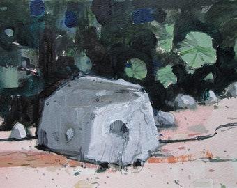 Boulder, Original Landscape Painting on Paper, Canada