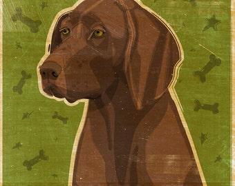 Dog Gifts- German Shorthaired Pointer Print Liver- GSP Art- Dog Print- German Shorthaired Pointer Gifts- for Pet Lovers- Gifts for Boss