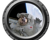 Hello from Outer Space Porthole Wall Decal