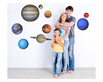 Large Set of Planets of Our Solar System Vinyl Wall Decals