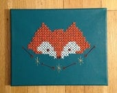 Cross Stitch Fox Head