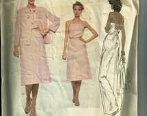 Vintage Vogue Molyneux Misses' Jacket, Dress, and Belt Pattern 1858